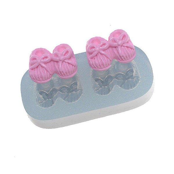 Molde de silicone Pares de Pantufas Ref. 377 Flexarte Rizzo Confeitaria
