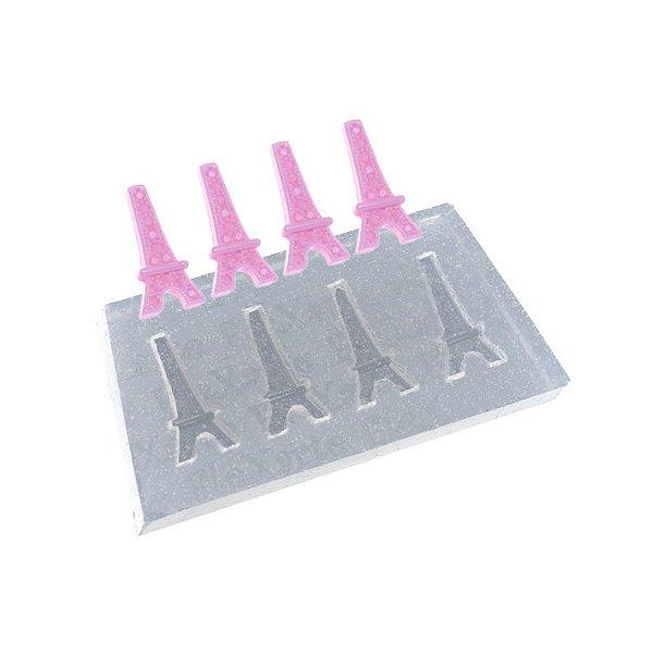 Molde de silicone Quarteto de Mini Torres Ref. 500 Flexarte Rizzo Confeitaria