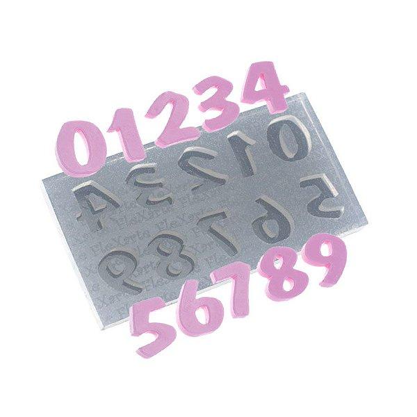 Molde de silicone Números Flash Médio Ref. 511 Flexarte Rizzo Confeitaria
