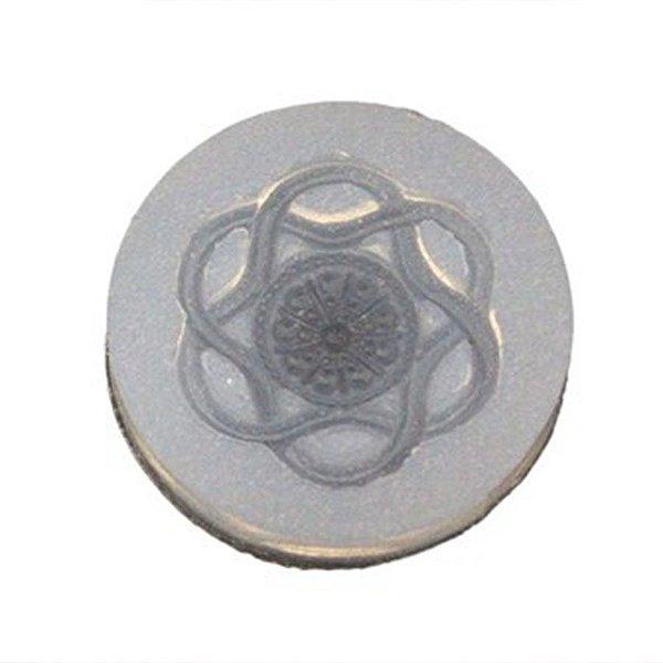 Molde De Silicone Botão Mandala Ref 48 Flexarte Rizzo Confeitaria