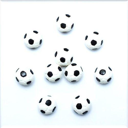 Confeitos comestíveis Mini Bola de Futebol Ref. 62 Jeni Joni Rizzo Confeitaria
