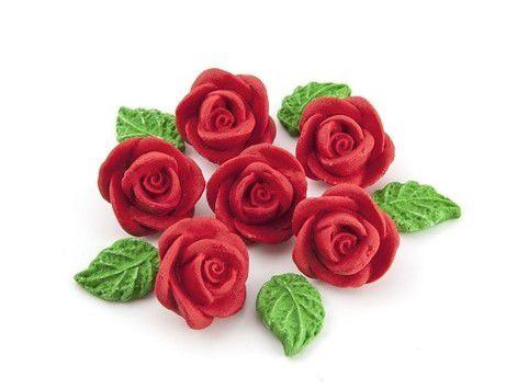 Confeitos comestíveis Rosa Média Vermelha Ref. 69 Jeni Joni Rizzo Confeitaria