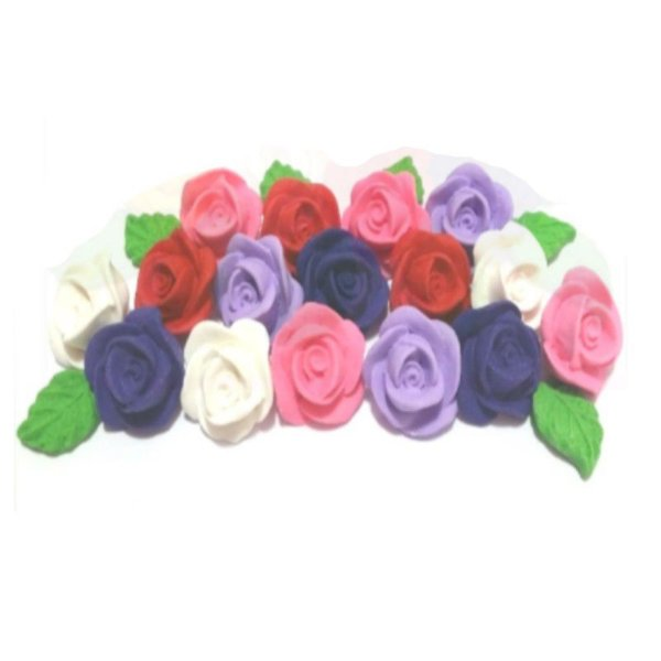 Confeitos comestíveis Rosa Pequena Azul Ref. 70 Jeni Joni Rizzo Confeitaria