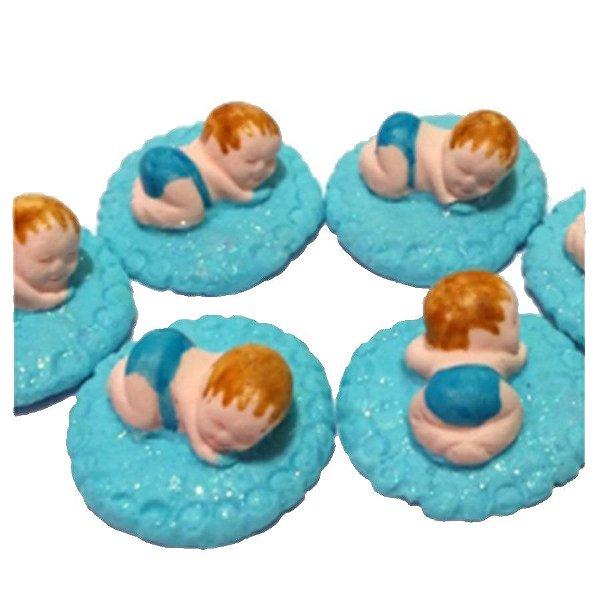 Confeitos comestíveis Bebe Manta Azul Ref. 04 Jeni Joni Rizzo Confeitaria