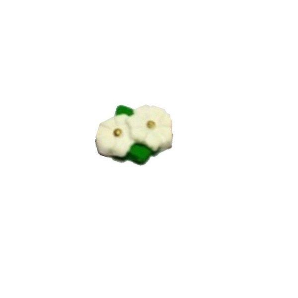 Confeitos comestíveis Margarida Dupla Branca Ref. 72 Jeni Joni Rizzo Confeitaria