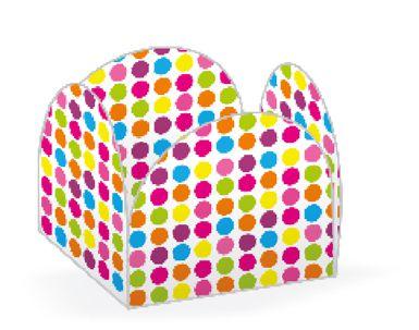 Forminha 4 Pétalas Bolinhas Coloridas Cod. 10.49 com 50 un. Nc Toys Rizzo Confeitaria