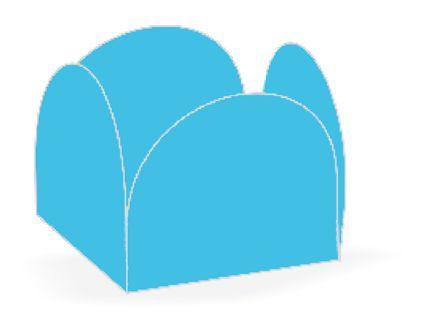 Forminha 4 Pétalas Azul Céu Cod. 10.57 com 50 un. Nc Toys