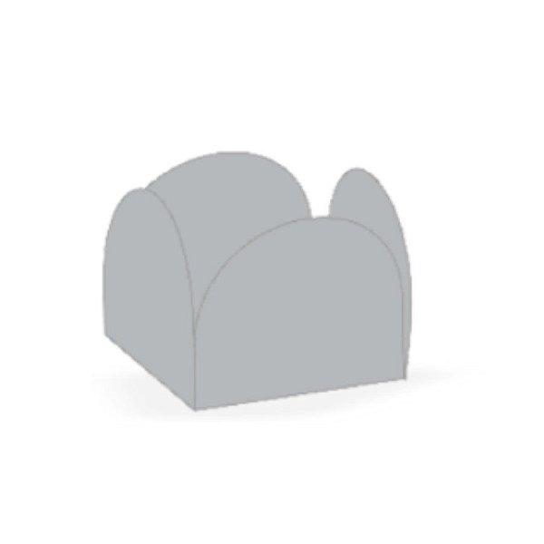 Forminha 4 Pétalas Prata Cod. 10.58 com 50 un. Nc Toys Rizzo Confeitaria