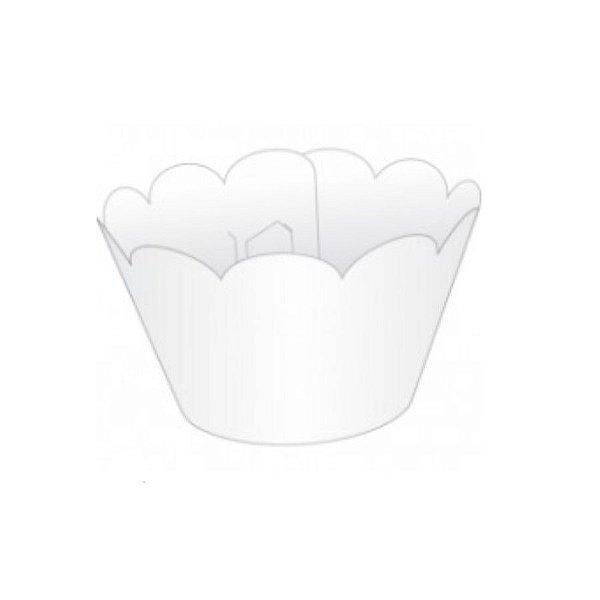 Wrapper para CupCake Tradicional Branco Cod. 12.1 com 12 un. Nc Toys