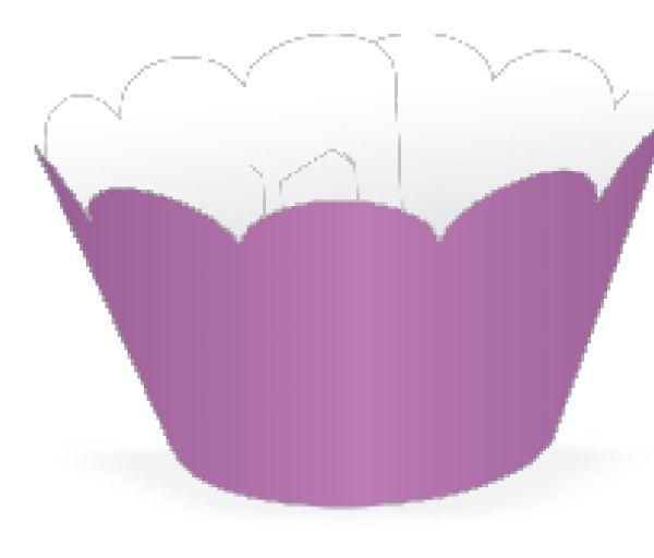 Mini Wrapper para CupCake Lilás Cod. 20.7 com 12 un. Nc Toys