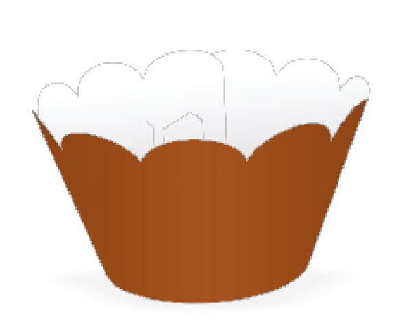 Mini Wrapper para CupCake Marrom Cod. 20.21 com 12 un. Nc Toys