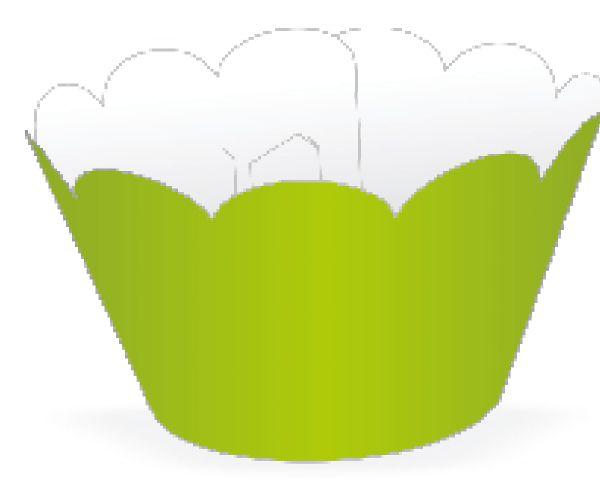 Mini Wrapper para CupCake Verde Limão Cod. 20.5 com 12 un. Nc Toys Rizzo Confeitaria