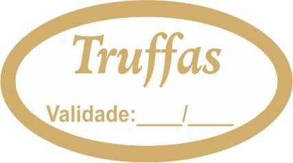 Etiqueta Adesiva Truffas Cod. 056 c/ 100 un. Massai Rizzo Confeitaria