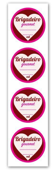 Etiqueta Adesiva Brigadeiro Gourmet  Cod. 6360 c/ 20 un. Miss Embalagens Rizzo Confeitaria