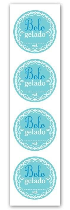 Etiqueta Adesiva Bolo Gelado Cod. 6575 c/ 20 un. Miss Embalagens Rizzo Confeitaria