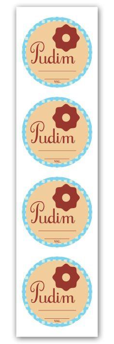 Etiqueta Adesiva Pudim Cod. 6520 c/ 20 un. Miss Embalagens Rizzo Confeitaria