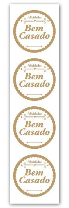 Etiqueta Adesiva Bem Casado Cod. 5615 c/ 20 un. Miss Embalagens Rizzo Confeitaria