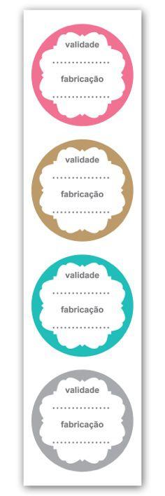 Etiqueta Adesiva Validade e Fabricação Cod. 5608 c/ 20 un. Miss Embalagens Rizzo Confeitaria