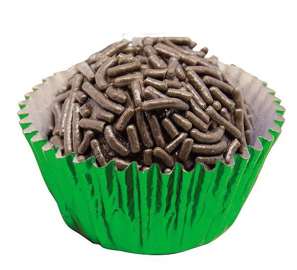 Forminha de Papel N° 4 Verde Metalizada com 50 un. Cod. 3091 Mago Rizzo Confeitaria
