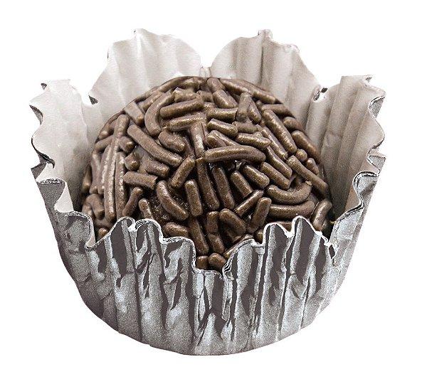 Forminha de Papel N° 5 Recortada Prata Metalizada com 50 un. Cod. 3095 Mago Rizzo Confeitaria