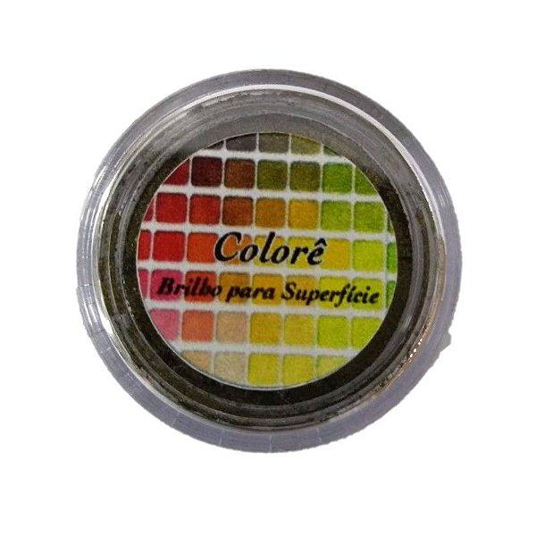 Pó para Decoração, Brilho para Superficie Colorê Black Gold 2g LullyCandy Rizzo Confeitaria