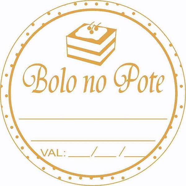 - Etiqueta Adesiva Bolo no Pote Cod. 091  c/ 50 un. Massai Rizzo Confeitaria