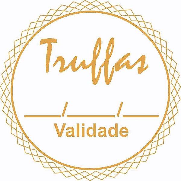Etiqueta Adesiva Truffas Cod. 086 c/ 50 un. Massai Rizzo Confeitaria