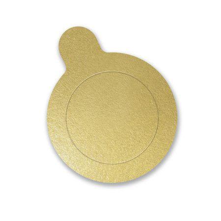 Base Redonda Ouro 8 cm com 20 un. Ultrafest Rizzo Confeitaria