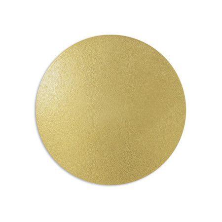 Disco para Bolos e Tortas Ouro 23 cm 1 un. Ultrafest Rizzo Confeitaria