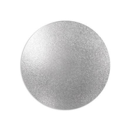 Disco para Bolos e Tortas Prata 23 cm 1 un. Ultrafest Rizzo Confeitaria
