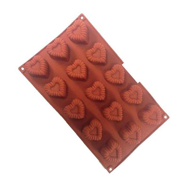 Forma de Silicone Pequena Coração ArtLille Rizzo Confeitaria
