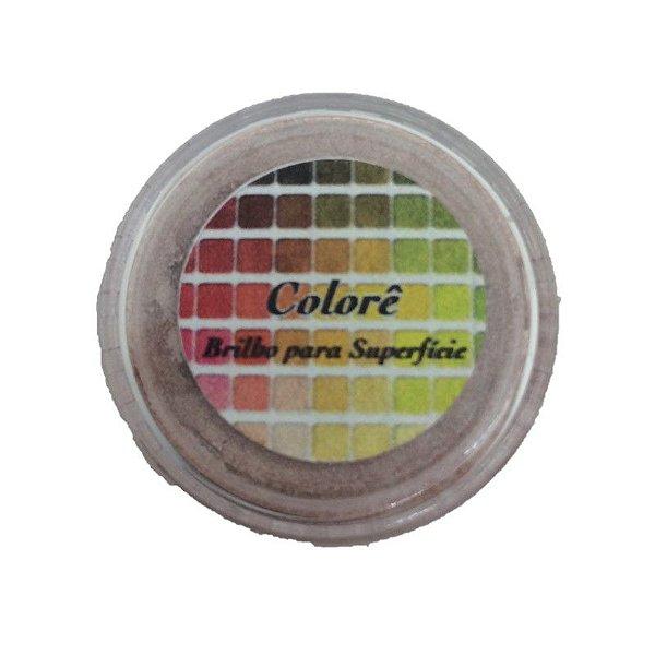 Pó para decoração, Brilho para superficie Colorê Rosê 2g LullyCandy Rizzo Confeitaria