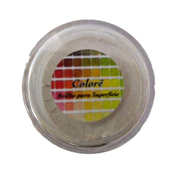 Pó para decoração, Brilho para superficie Colorê Champagne 2g LullyCandy Rizzo Confeitaria