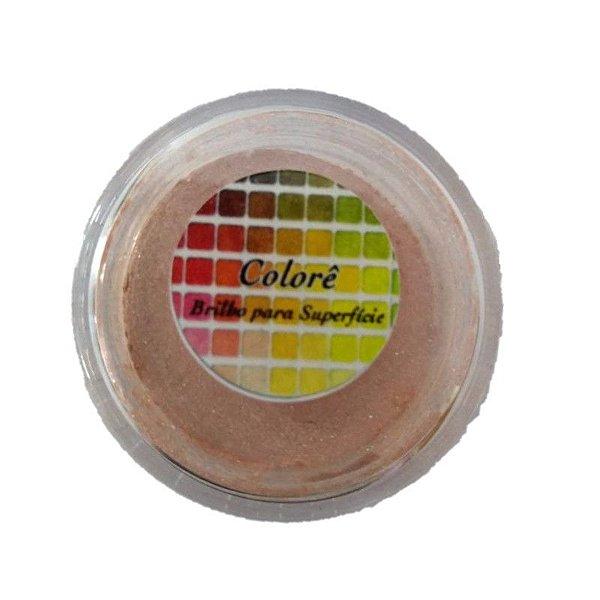 Pó para decoração, Brilho para superficie Colorê Salmon1 2g LullyCandy Rizzo Confeitaria