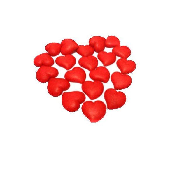 Confeitos comestíveis Coração Vermelho Grande Ref. 35 Jeni Joni Rizzo Confeitaria