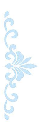 Stencil Arabesco SC3-010 Litoarte Rizzo Confeitaria