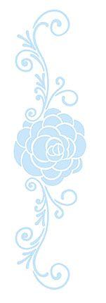 Stencil Rosa e Arabescos SC4-004 Litoarte Rizzo Confeitaria