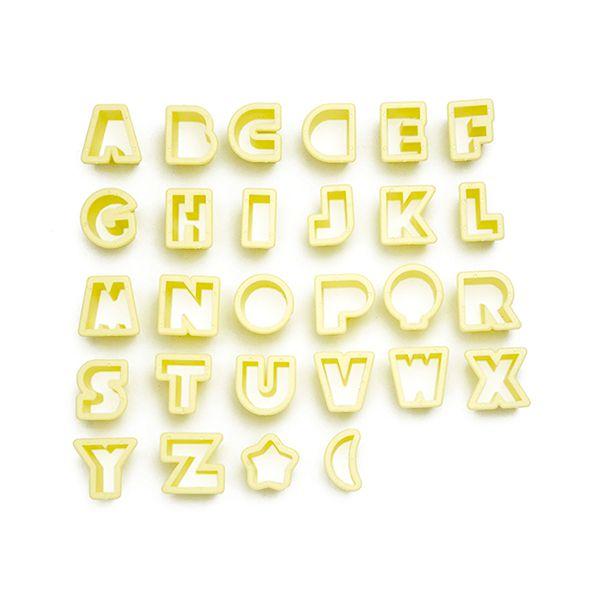 Kit Cortador Alfabeto Pequeno 2cm com 28 peças Blue Star Rizzo Confeitaria