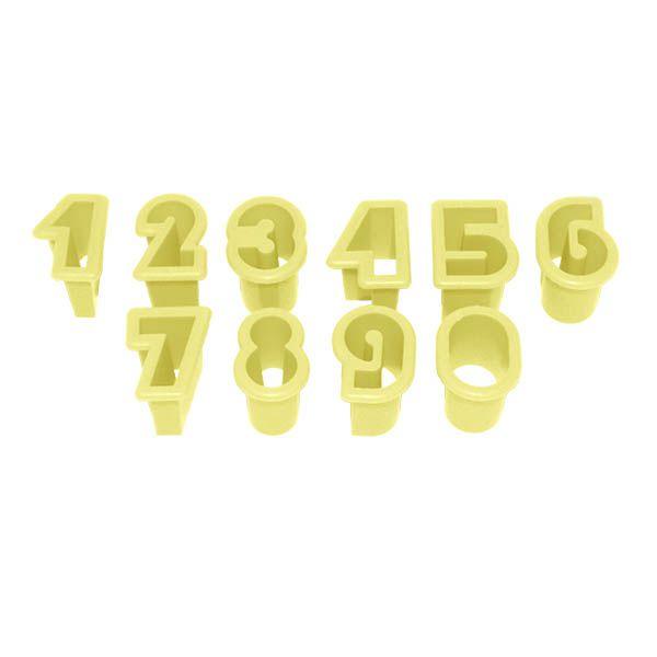 Kit Cortador de Números Pequeno 2 cm com 10 peças Blue Star Rizzo Confeitaria