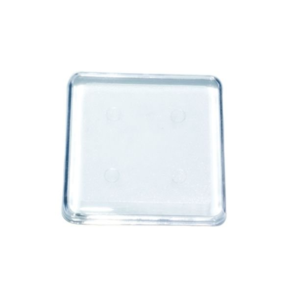 Base Mini Quadrada Transparente 4X4 Blue Star Rizzo Confeitaria