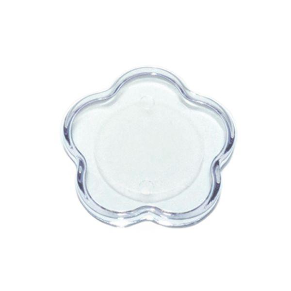 Base Mini Flor Transparente 4,5X4,5 Blue Star Rizzo Confeitaria