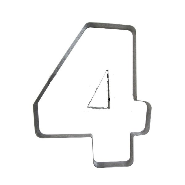 Cortador Numeral 4 G Ref. 364 RR Cortadores Rizzo Confeitaria