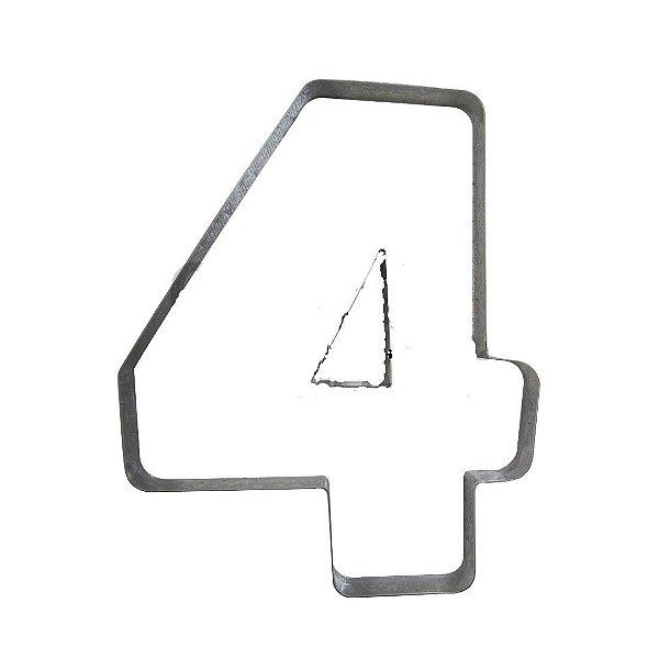 Cortador Numeral 4 Ref. 354 RR Cortadores Rizzo Confeitaria