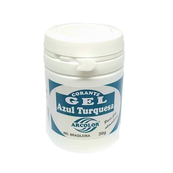 Corante Gel Turquesa 30 g Arcolor Rizzo Confeitaria