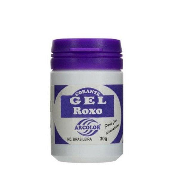 Corante Gel Roxo 30 g Arcolor Rizzo Confeitaria