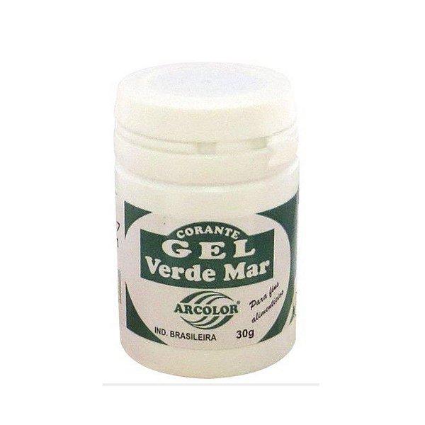 Corante Gel Verde Mar 30 g Arcolor Rizzo Confeitaria