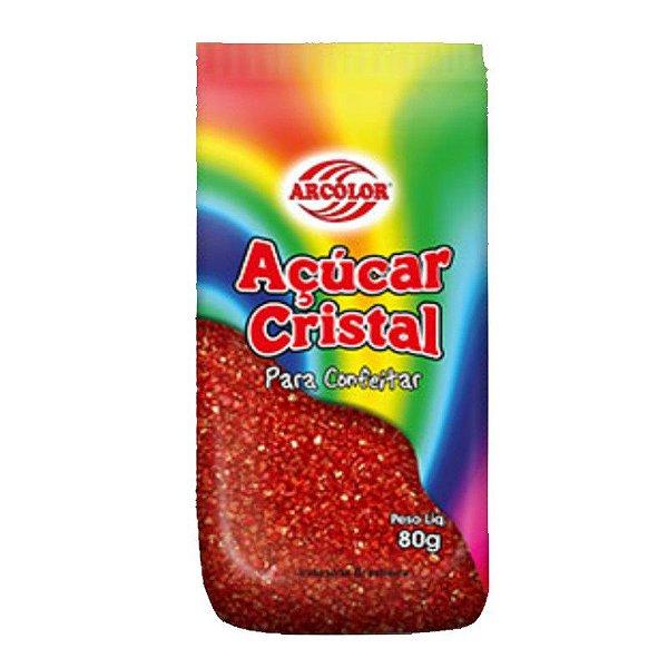 Açucar Cristal Vermelho 80 g Arcolor Rizzo Confeitaria