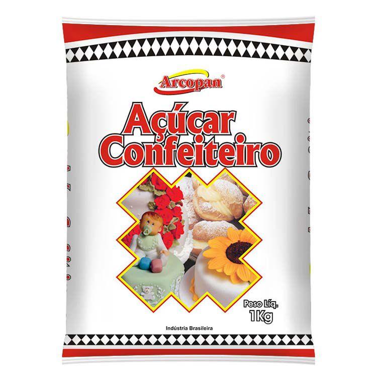Açúcar de Confeiteiro - 1 Kg - Arcolor - Rizzo Confeitaria