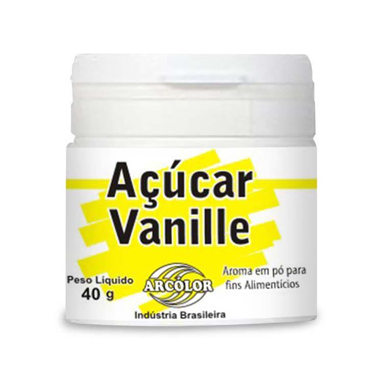 Açucar Vanille 40 g Arcolor Rizzo Confeitaria