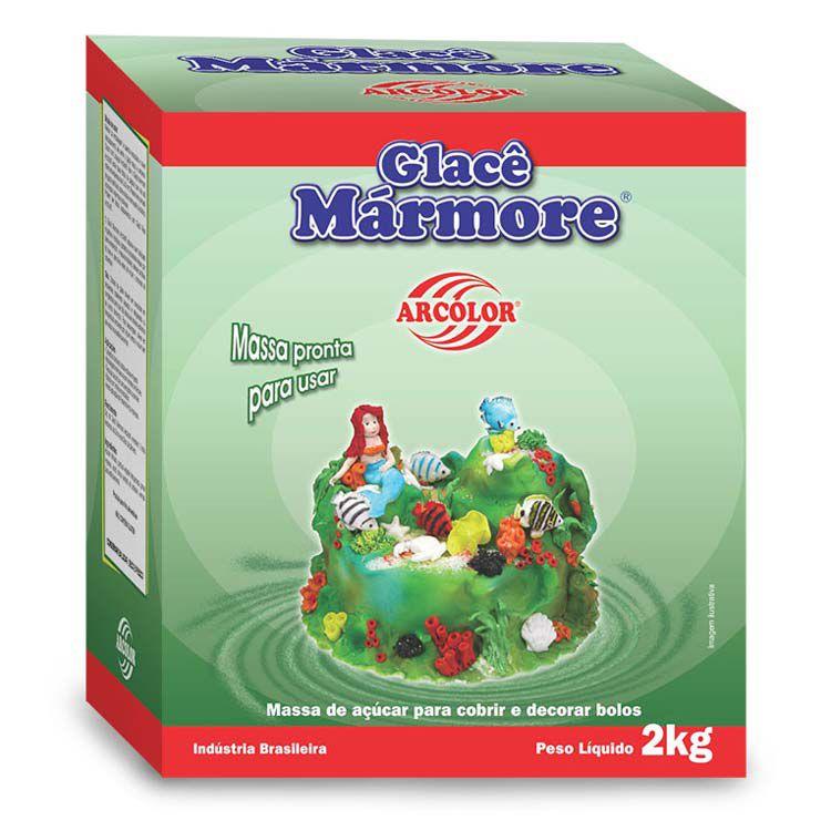 Glacê Marmore Arcolor 800g Arcolor Rizzo Confeitaria